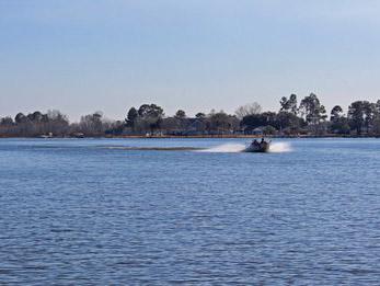 Boating on Lake Marion