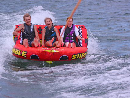 Children Innertubing on the Lake