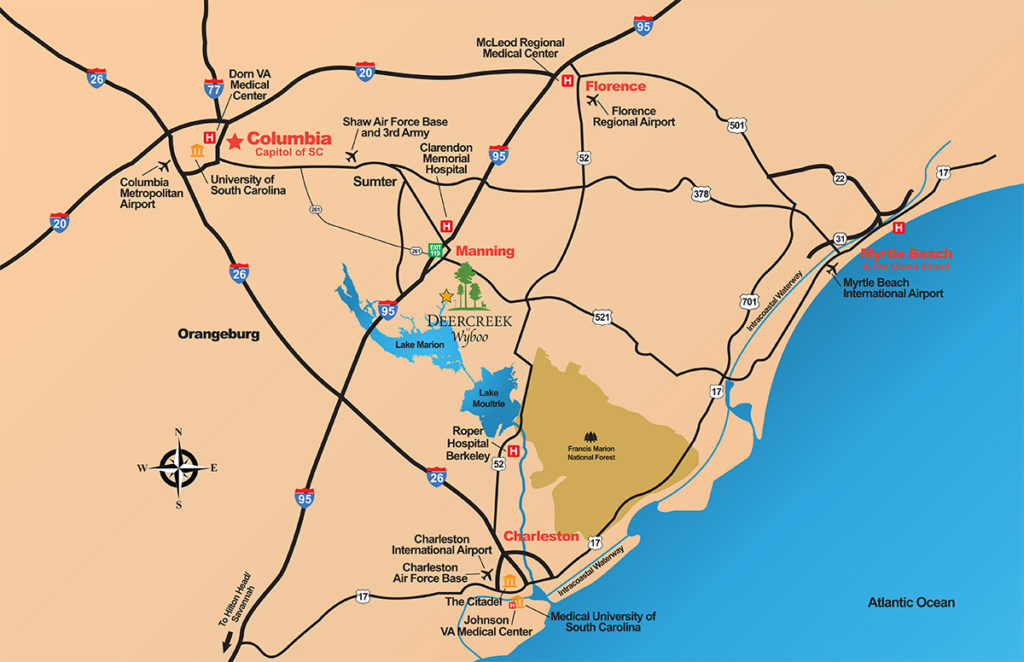 DeerCreek At Wyboo Regional Map