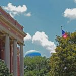 Courthouse, Water Tower, and Flag