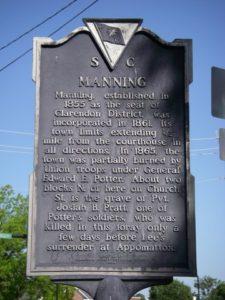 Historical Manning Plaque